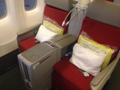 Ethiopian Airways Business Class.