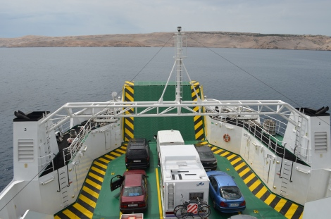Roll-on, roll-off ferry.