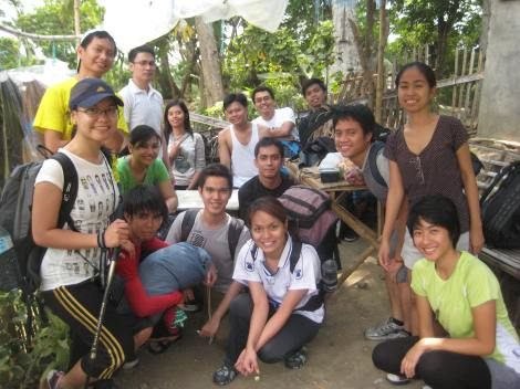 Me with my college friends on our way up Mt. Maculot in Batangas, Philippines. Spot my old pack, it's purple and black!