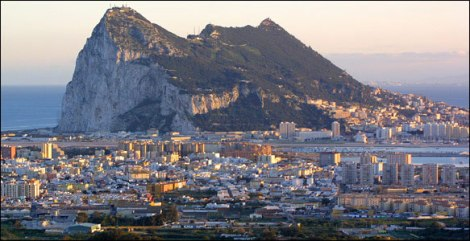 Famous rock of Gibraltar. photo courtesy of malagaweb.com