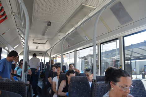 Bus to go back to the border.