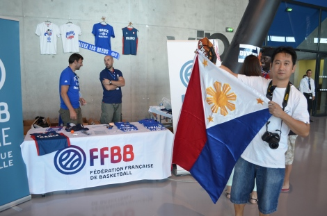 Our good friend Aldrin proudly waving the Philippine Flag.