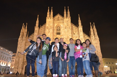 Milan with the gang.