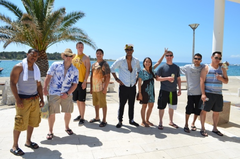 The gang in Malta.