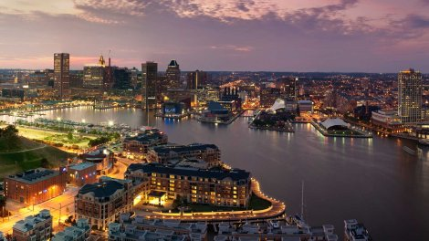 Baltimore Harbor - photo courtesy of rxrealty.com